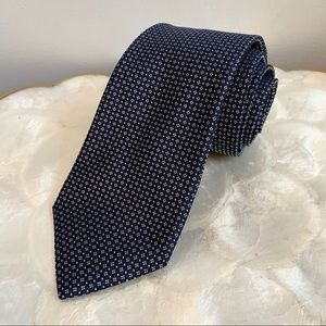 Valentino Navy Silk Classic Mens Tie Made in Italy